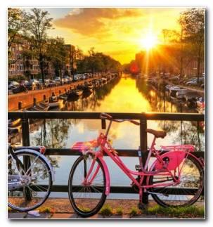 Ciclismo Cuidad Bicicletas Amsterdam Holanda