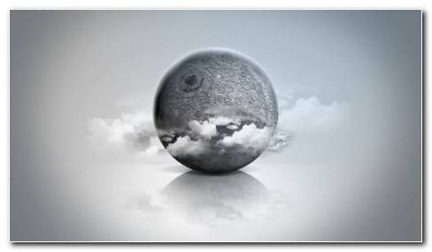 Cloudy Moon Hd Wallpaper