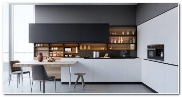 Cocina Blanco Negro Madera Diseno