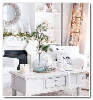 Decoraciones Navidenas Blancas Estilo Moda