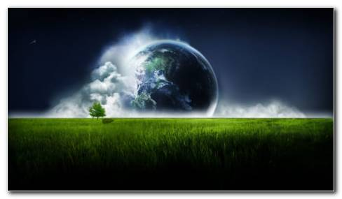 Earth Digital Art Hd Wallpaper