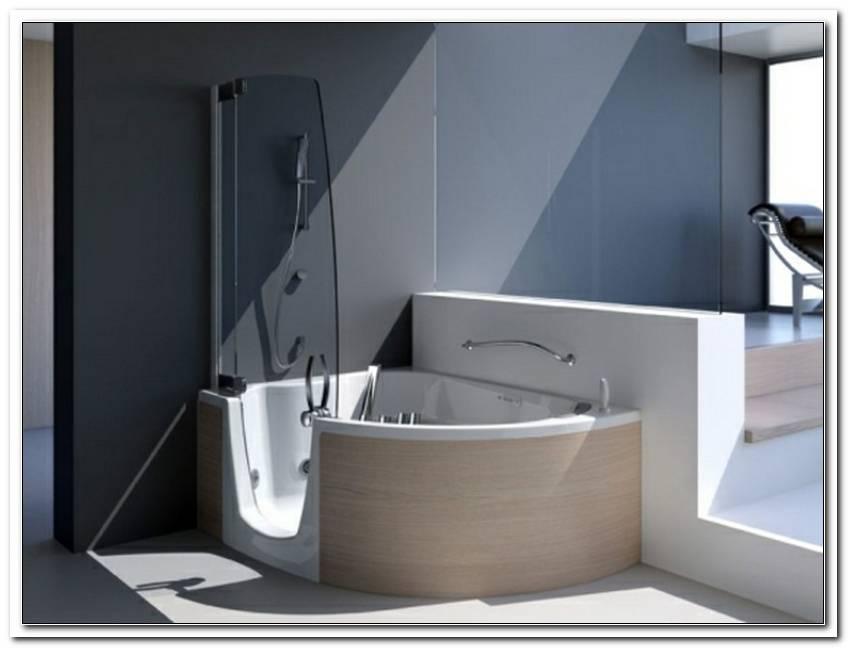 Eckige Badewanne Mit T?r Und Dusche