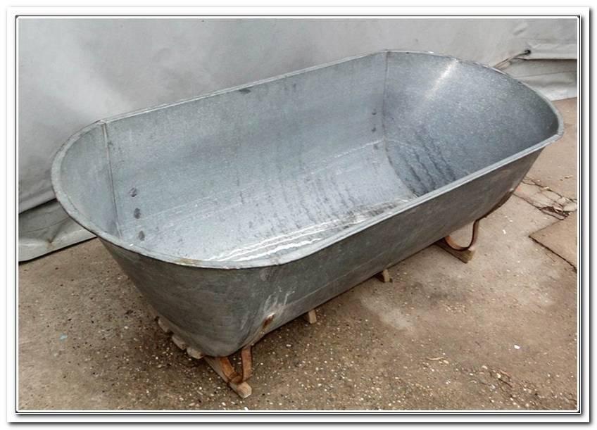 Emaillierte Badewanne