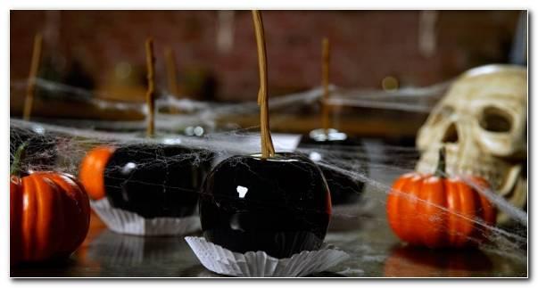 Fiesta De Halloween Manzanas Negras