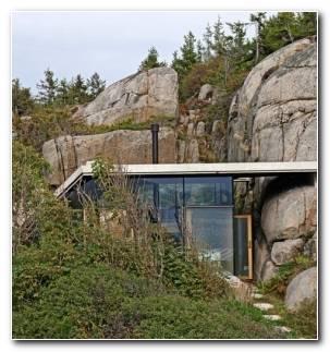Fotos De Casas Noruega Cabana Rocosa.ventanas