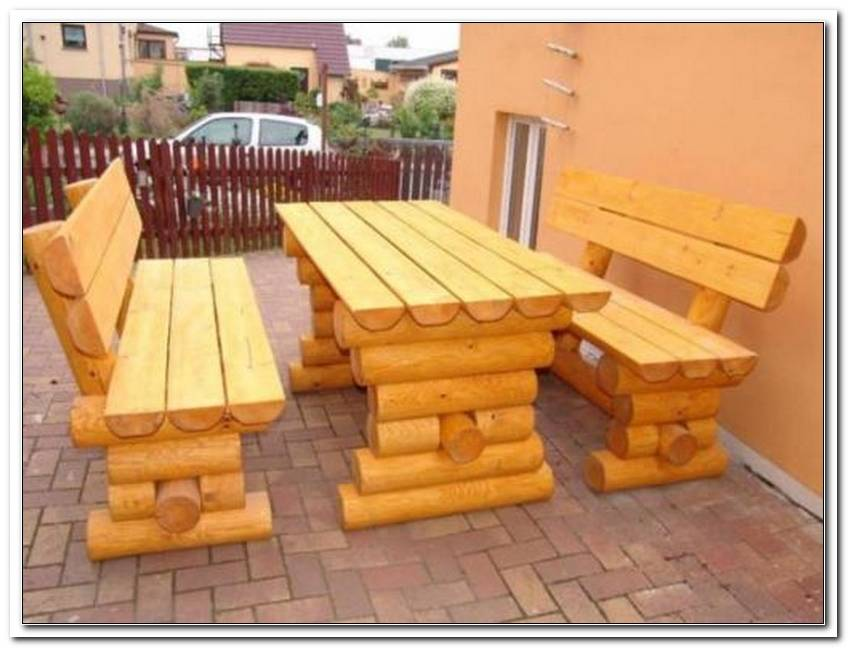 Gartenm?bel Holz Massiv Rustikal