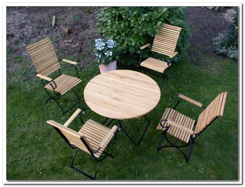 Gartenm?bel Set Holz Runder Tisch