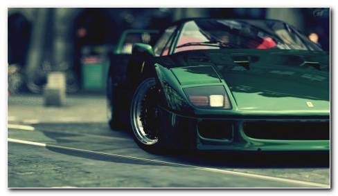 Green Ferrari F40 Wallpaper