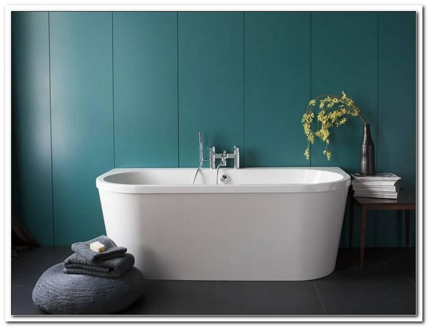 halb freistehende badewanne