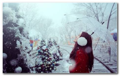 holiday Christmas winter HD wallpaper