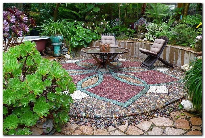 Jardin Suelo Precioso Colorido Piedras Distintos Tipos Ideas