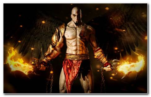 Kratos Video Game Hd Wallpaper