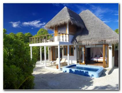 Maldives Exotic Hut Hd Wallpaper