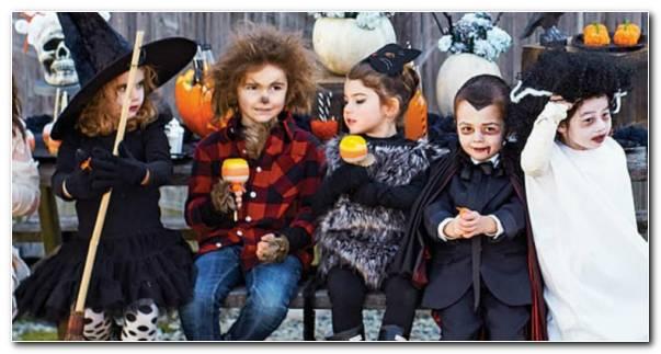 Ni?os Con Disfraces Para Halloween