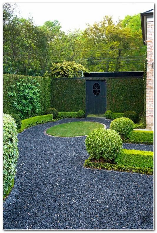 Suelos Senderos Camino Disenos Jardin Grava Circulo Cesped Ideas