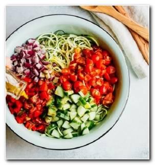Tallarines Calabacin Recetas Ensalada Verduras Saludable