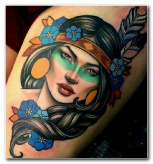 Tatuaje Neo Tradicional Cara