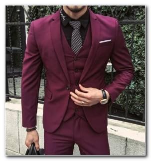 Trajes Para Hombre Color Rojo Oscuro Original