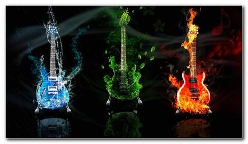 Wallpaper Guitars Music Abstract