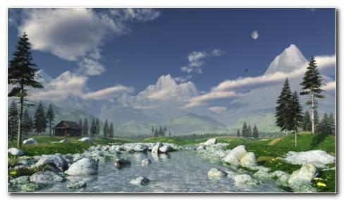 White Mountains Hd Wallpaper