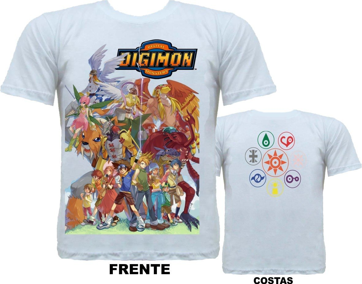 CAMISETA DIGIMON WORLD  - SUBLIMAÇÃO FRENTE E COSTAS