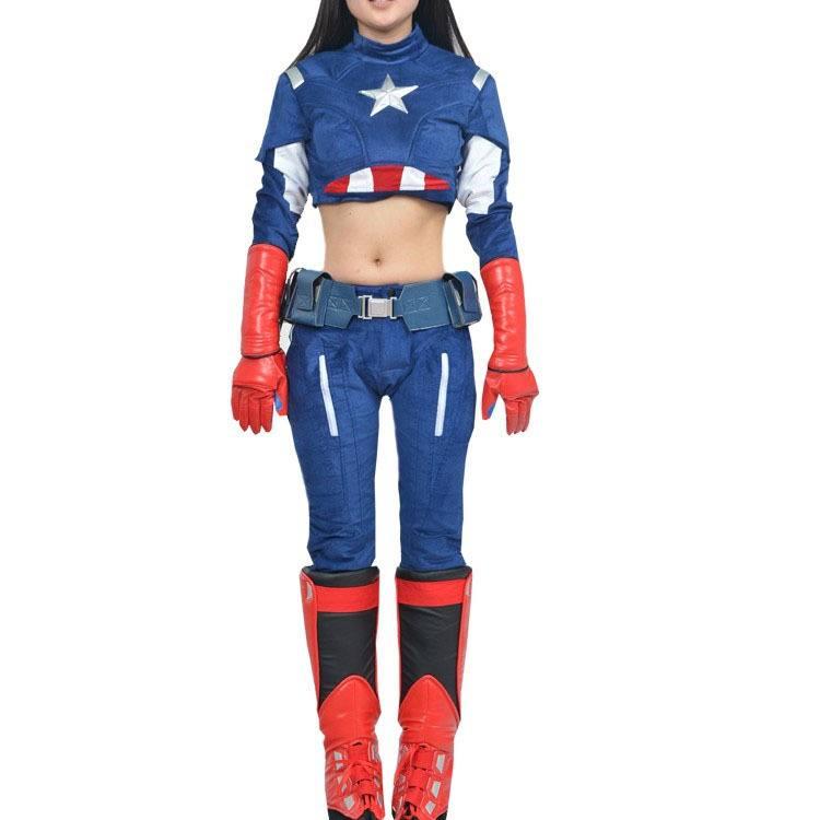 Cosplay Capitão America Versão Feminina Os Vingadores The Avengers