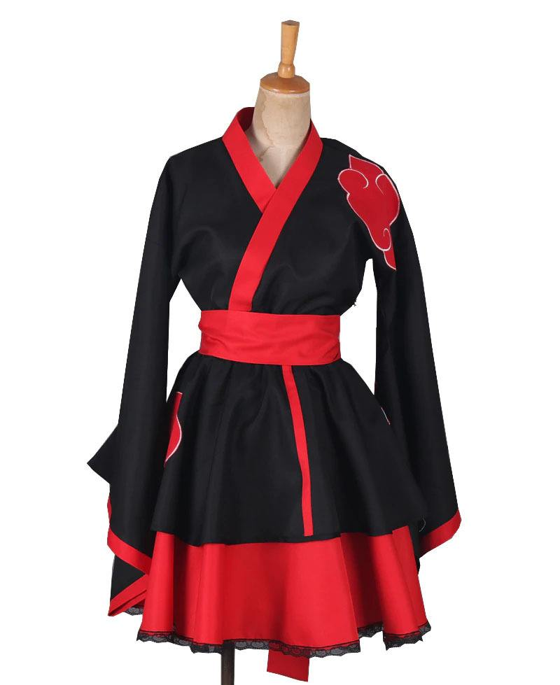 Cosplay Kimono Akatsuki Naruto Lolita - Naruto Shippuden