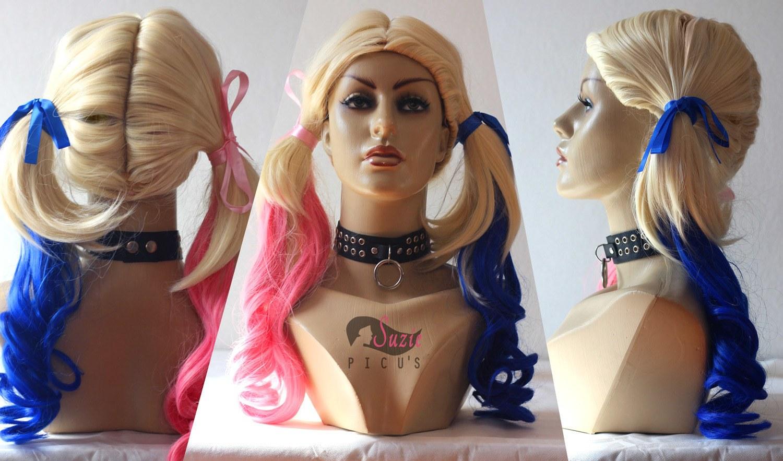 Peruca Harley Quinn / Arlequina Cosplay
