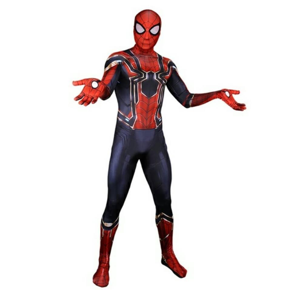 Traje Homem Aranha Iron spider-Cosplay