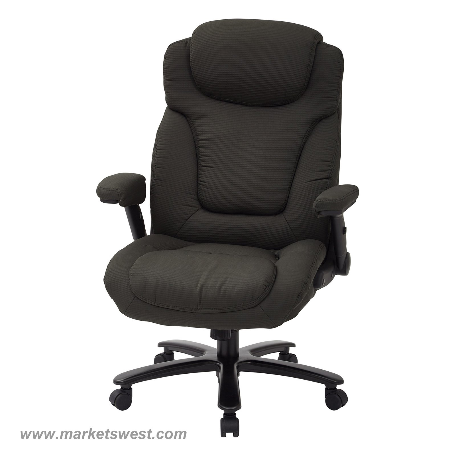 Big Tall High Back Charcoal Fabric Executive Chair With Padded for proportions 1600 X 1600