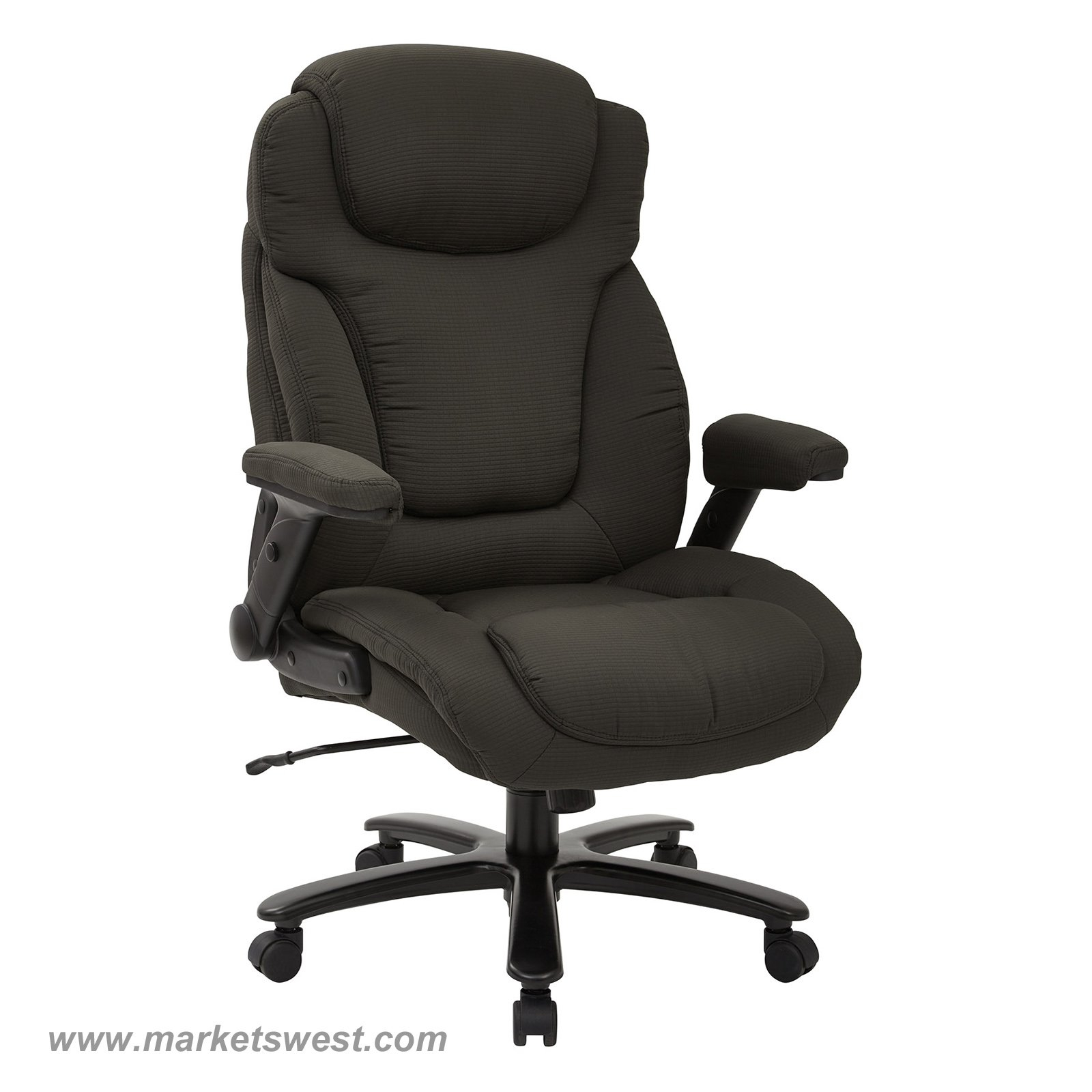 Big Tall High Back Charcoal Fabric Executive Chair With Padded regarding measurements 1600 X 1600