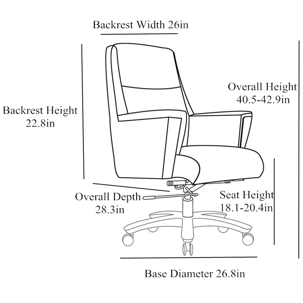 Bloomberg Leather Adjustable Office Chair With Aluminum Base throughout proportions 1000 X 1000