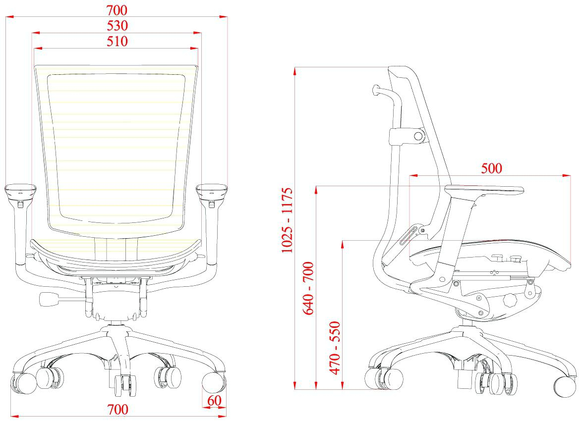 Desk Chairs Standard Office Chair Height Desk Seat Computer inside proportions 1174 X 850