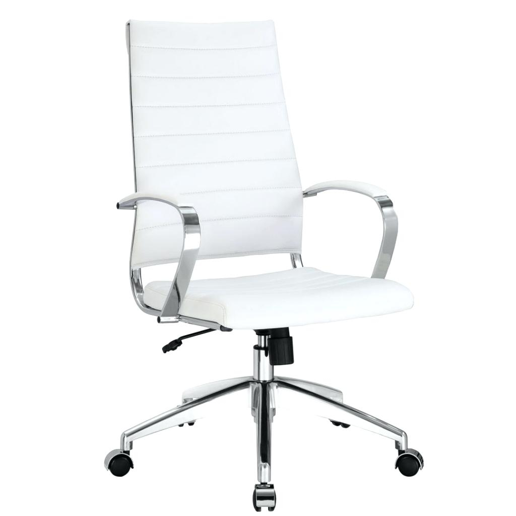 Desk Chairs White Leather Office Chair Under 100 Canada Modern inside proportions 1024 X 1024
