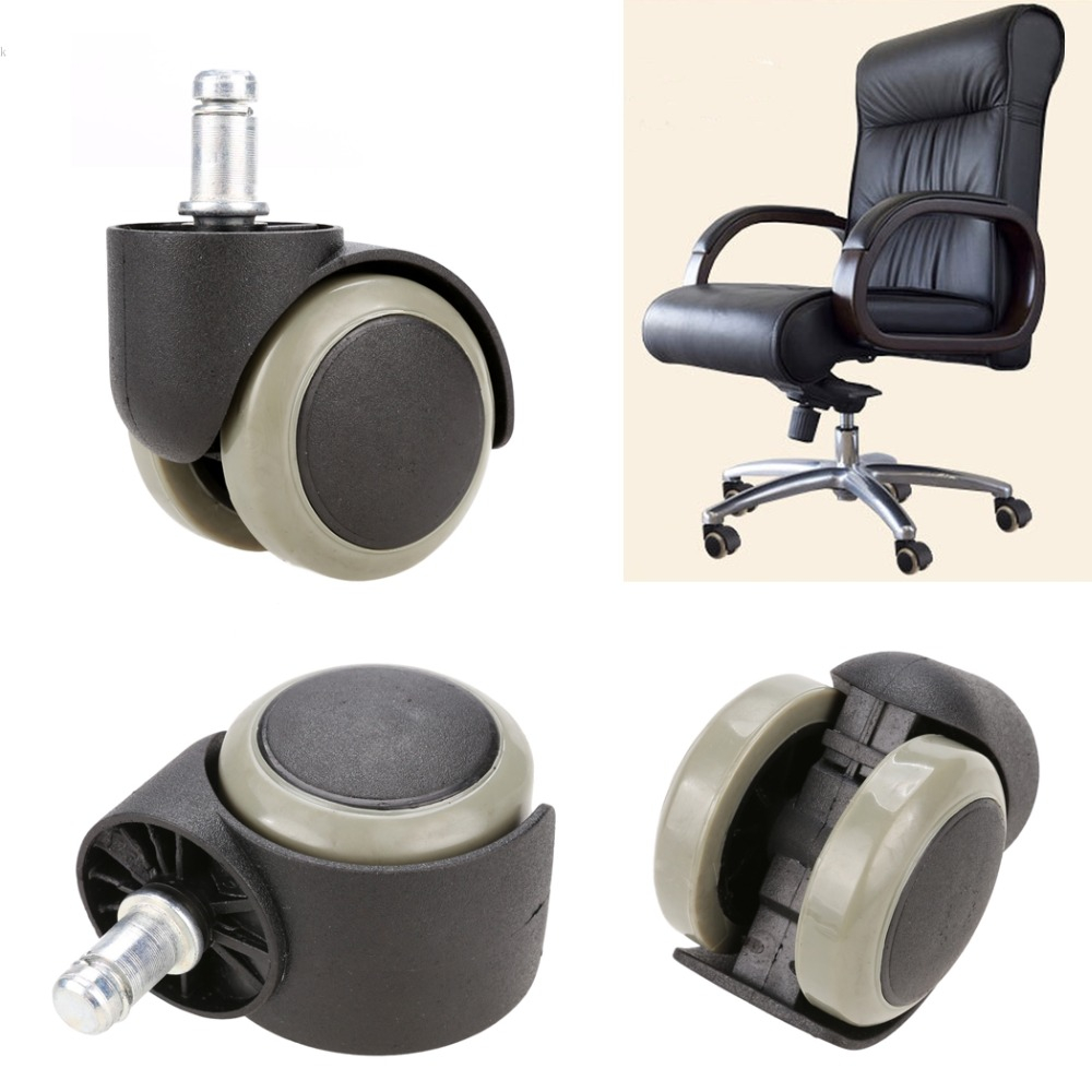 New 5pcs Office Chair Soft Rubber Caster Wheel Swivel Wood Floor with measurements 1000 X 1000