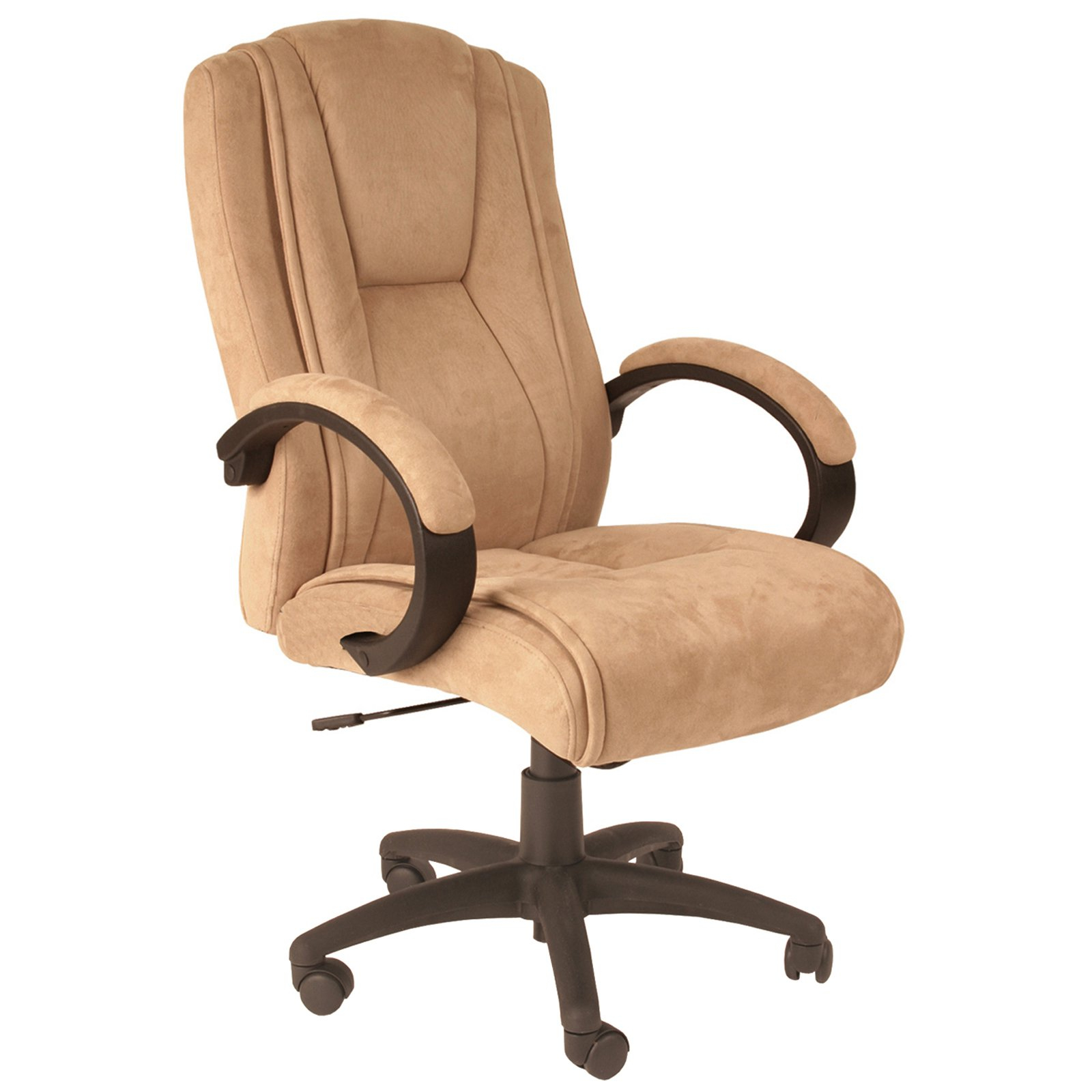 Serta Microfiber Executive Office Chair Light Beige Hayneedle intended for measurements 1600 X 1600