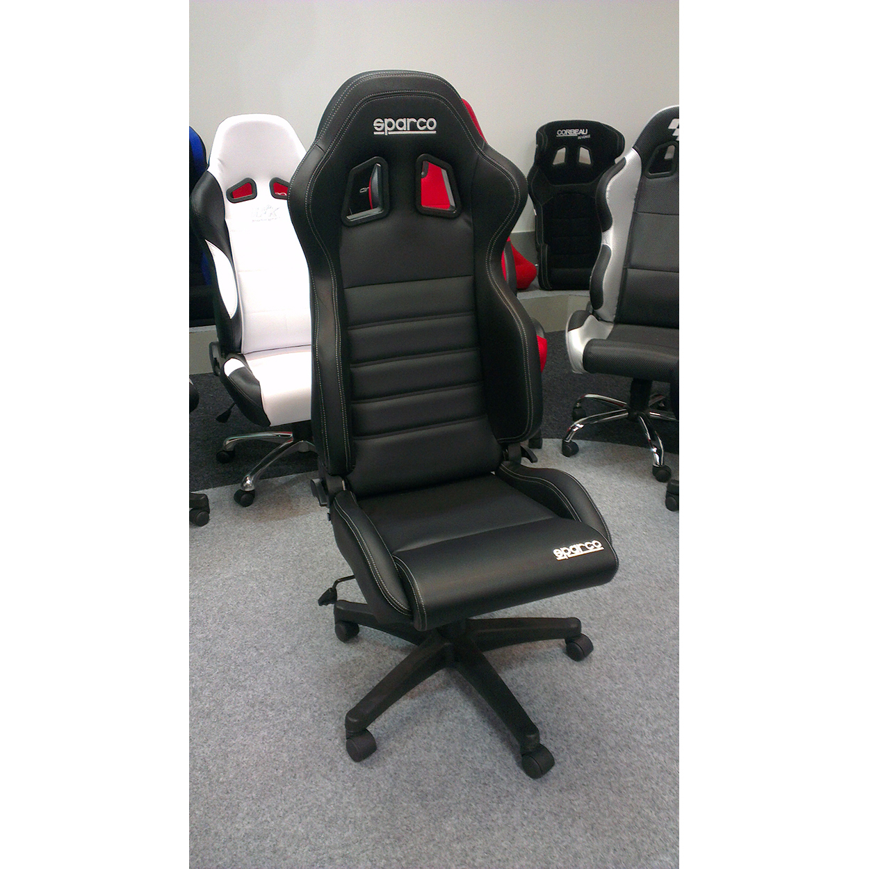 Sparco R100 Vinyl Racing Office Sports Seat Gsm Sport Seats throughout proportions 1250 X 1250
