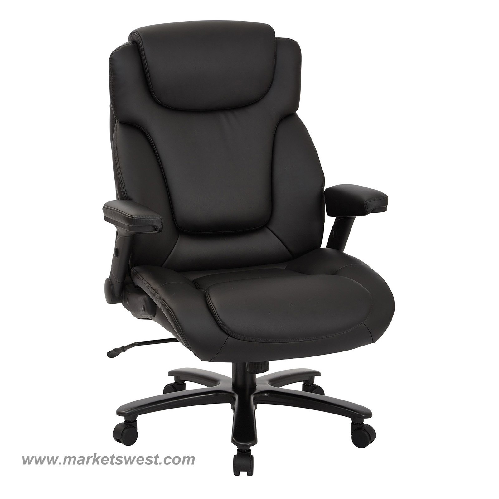 Tall High Back Bonded Leather Executive Chair With Padded Flip Arms inside size 1600 X 1600