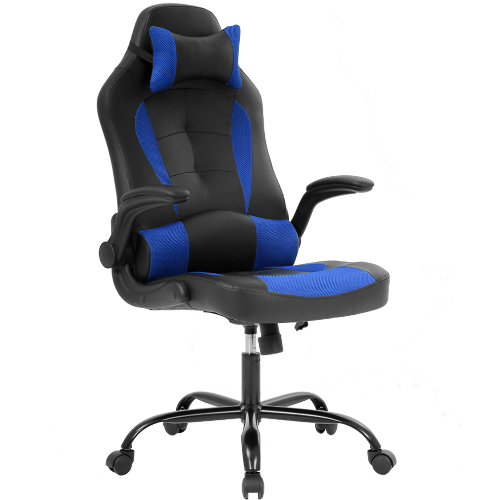 Gaming Chair Office High Back Pu Leather Racing Chair Reclining Computer Executive Desk Chair With Lumbar Support Adjustable Arms Rolling Swivel Chair regarding size 1010 X 1010