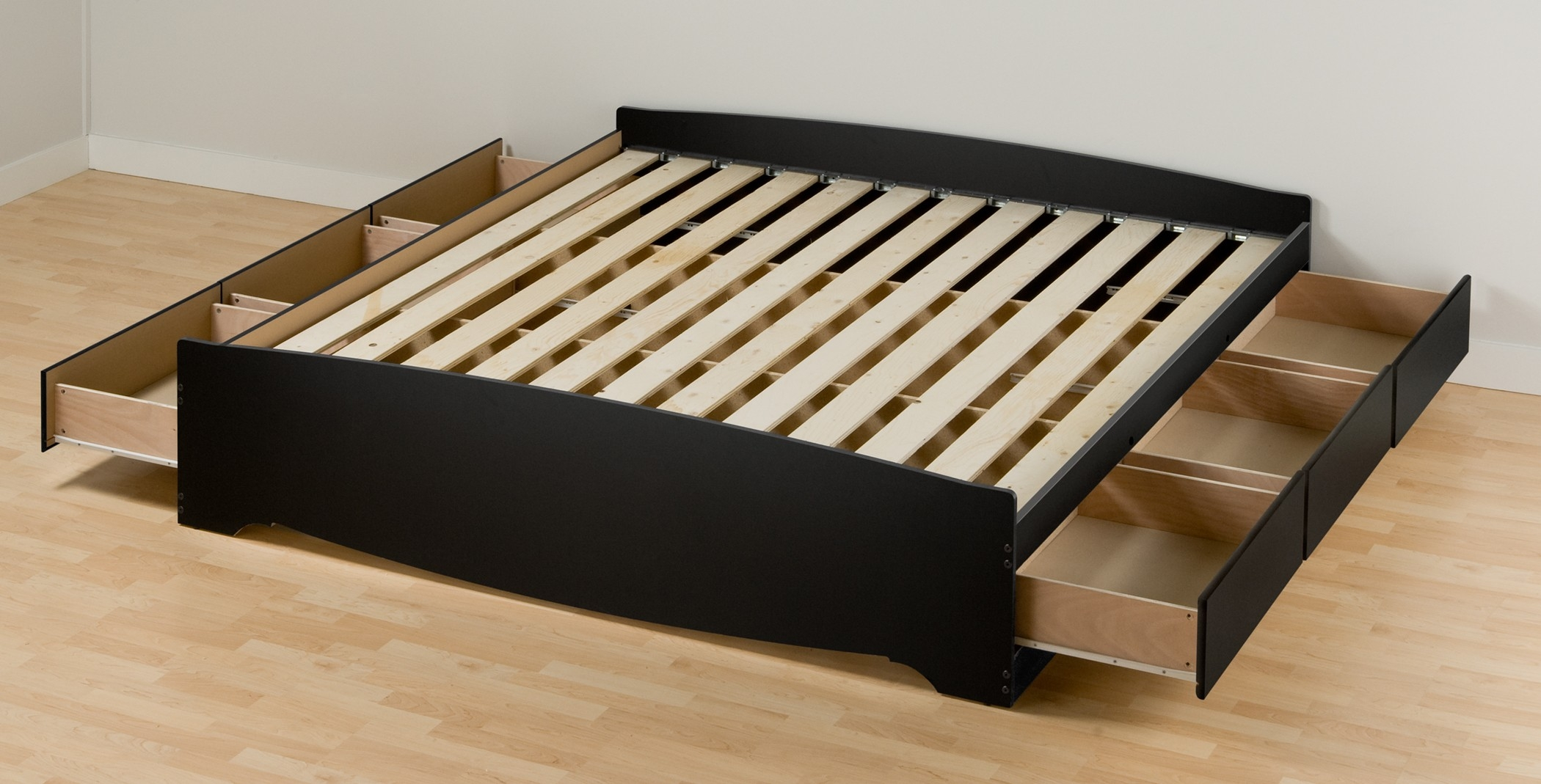 Eastern King Bed Frame With Storageevolution king size bed frame with drawers msexta