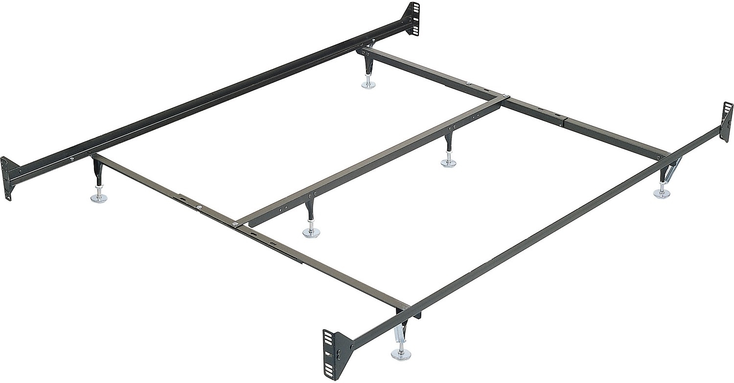 Full Size Metal Bed Frame With A Double Ended Attachment