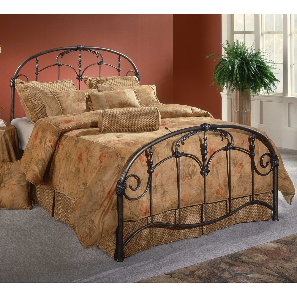 Antique Cast Iron Queen Bed Frame