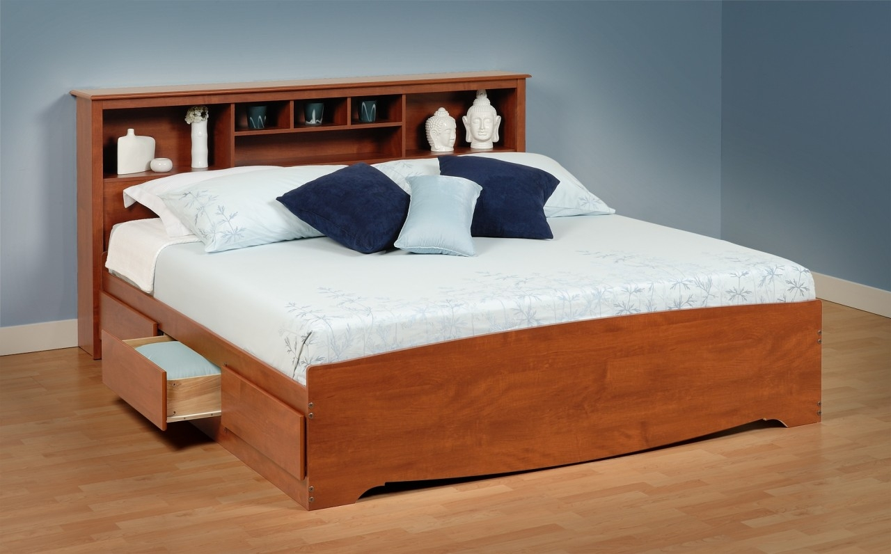 Bed Frames With Storage Drawers And Headboard