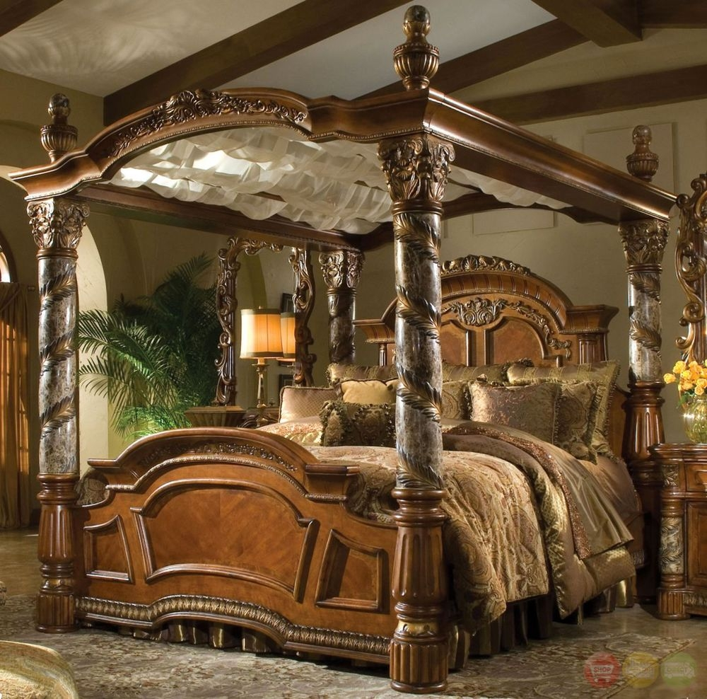 Cal King Canopy Bed Frame