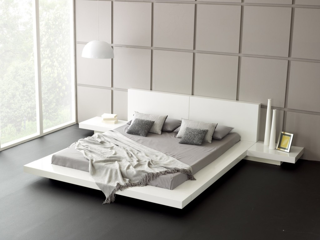 Contemporary White Bed Frames