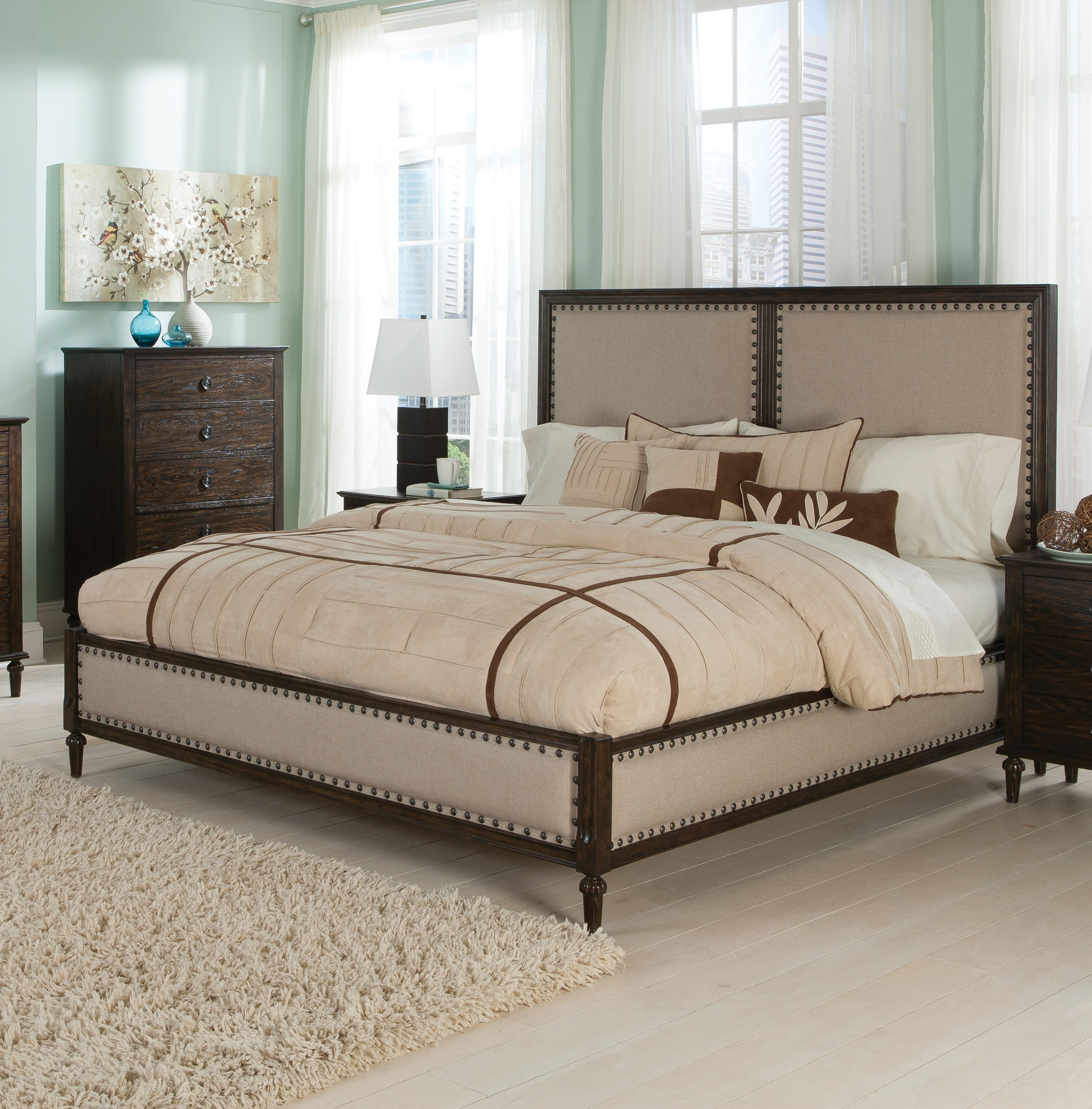 Dark Oak King Size Bed Frame