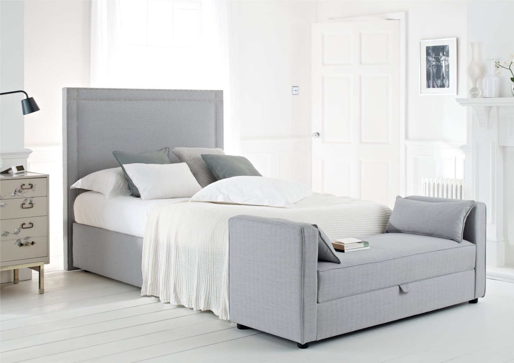 Double Bed Frame With High Headboard