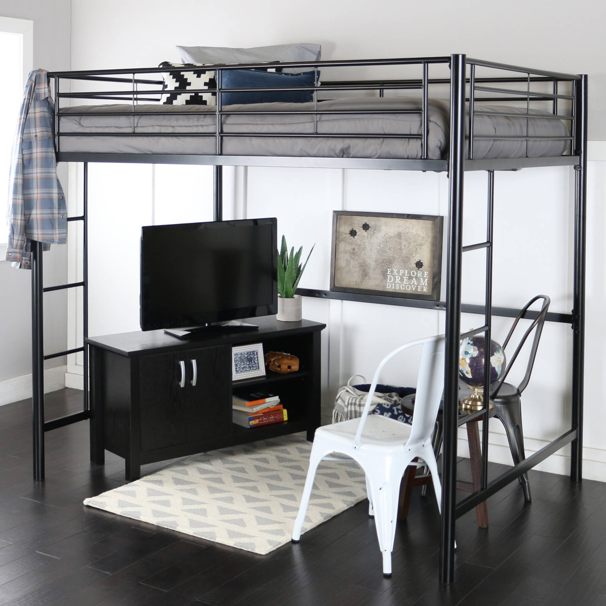 Full Size Lofted Bed Frame