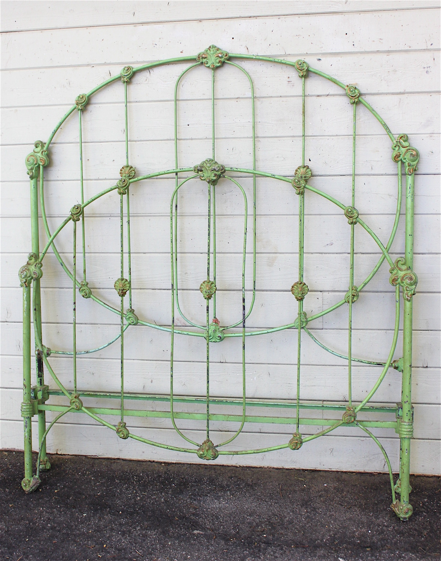 Green Iron Bed Frame