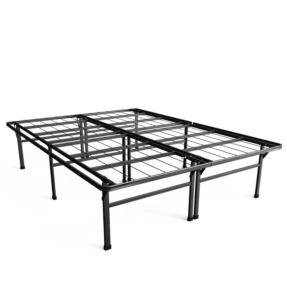 High Metal Bed Frame Queenzinus high profile smartbase queen metal bed frame hd sb13 18q